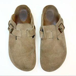 Birkenstock's Boston Suede Leather Slip On Clogs